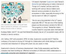 Qualcomm, MediaTek eye slice of India's Internet of Things market
